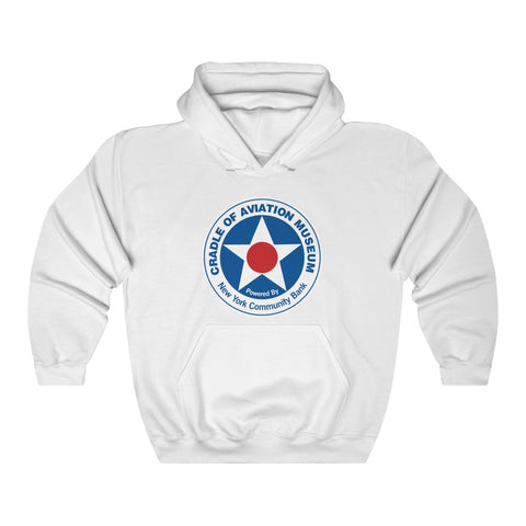 Unisex Heavy Blend™ Hooded Sweatshirt - Cradle of Aviation Museum Logo Merch