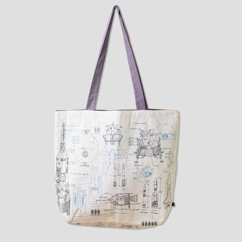 Aviation and Space Canvas Tote Bags