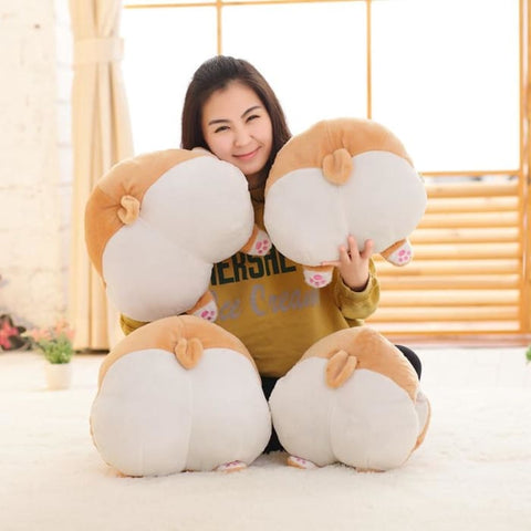 15 inches Corgi Butt Pillow and Hand Warmer - Stuffed Animals & Plush Toys