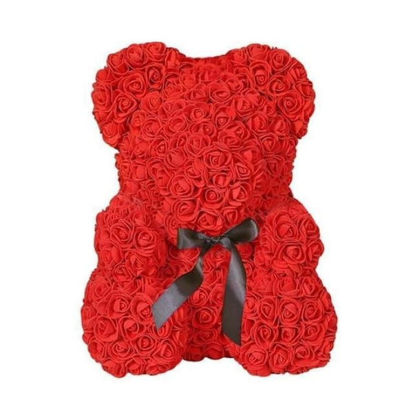 25cm Rose Teddy Bear - RED - Stuffed Animals & Plush Toys