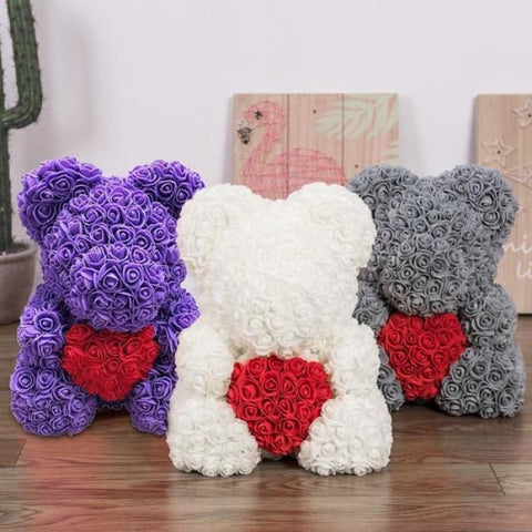 40cm Rose Teddy Bear - Stuffed Animals & Plush Toys