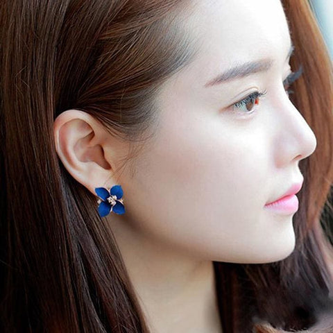 Coloured Flower Ear Studs (2 Variants) - Earrings