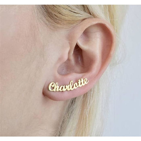 Custom Name Ear Studs - Personalised