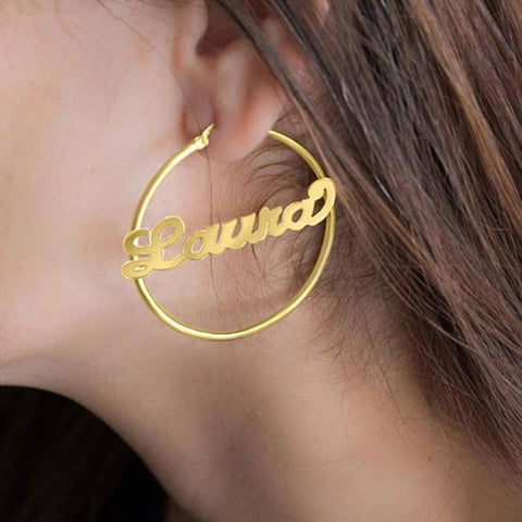Custom Name Earrings - Personalised
