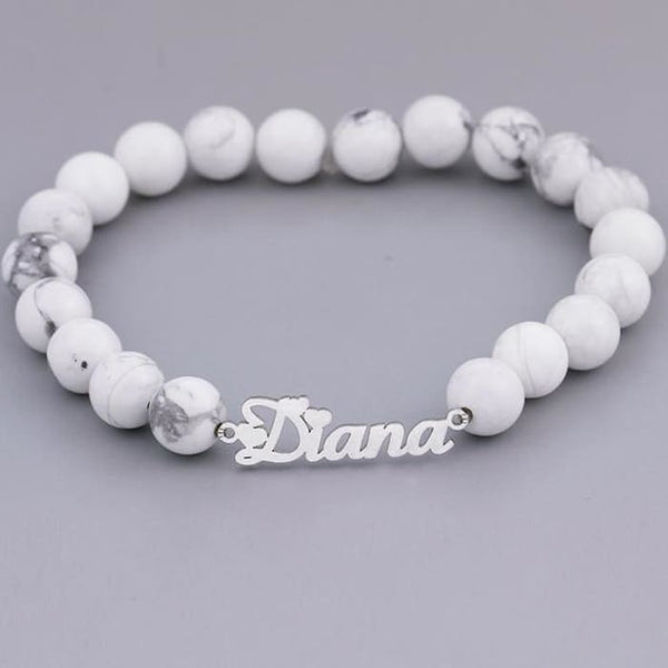 Custom Name Stretchy Beads Bracelet - Personalised