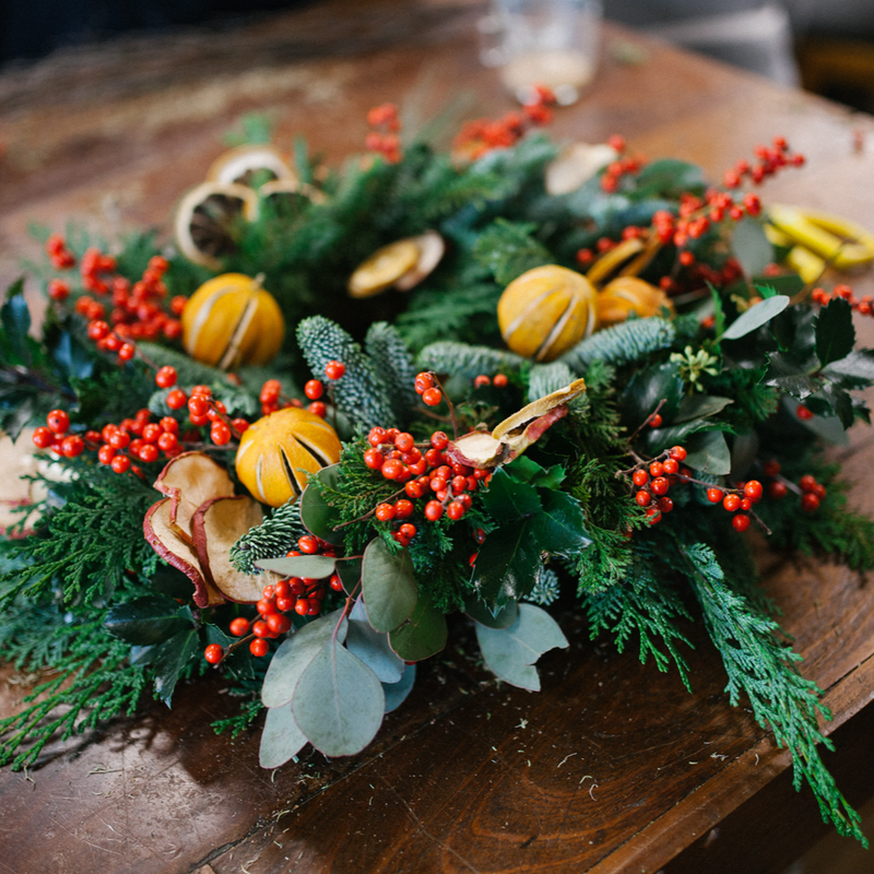 The Signature Christmas Wreath, November and December 2019