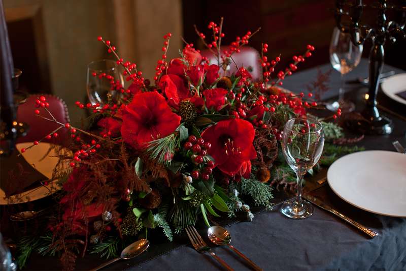 Yuletide Table Centrepiece,  Thursday 12th December 2019