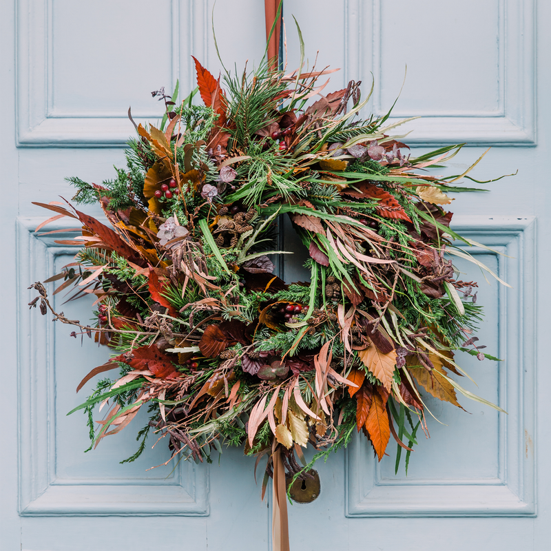 Deep and Dramatic Wreath