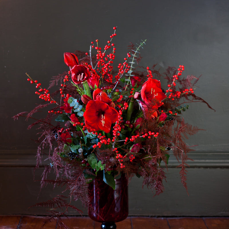 Warm Reds Handtied Bouquet