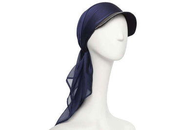 Aqua Dolce Wool Cap with Silk Chiffon Scarf | Ophelie Hats Shop Custom Made Felt Hats Montréal Canada