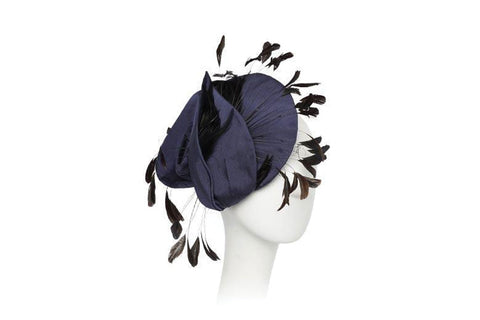 Dometrya Raw Silk Fascinator Headpiece | Ophelie Hats Shop Custom Made Felt Hats Montréal Canada