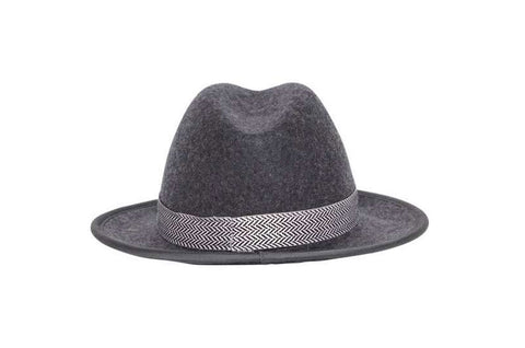 Lucky Luciano Fedora Wool Felt Hat | Ophelie Hats Shop Custom Made Felt Hats Montréal Canada