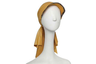 Mycena Tee Wool Cap with Silk Chiffon Scarf | Ophelie Hats Shop Custom Made Felt Hats Montréal Canada