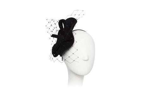 Oepalee Veiled Felt Fascinator | Ophelie Hats Shop Custom Made Felt Hats Montréal Canada
