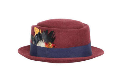 Plume Pop Wool Felt Pork Pie Hat | Ophelie Hats Shop Custom Made Felt Hats Montréal Canada