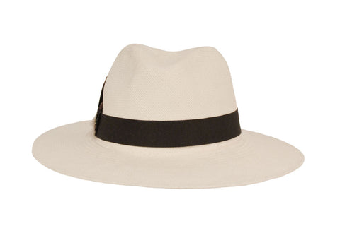 Santa Domingo Panama Straw Fedora Hat | Ophelie Hats Shop Custom Made Felt Hats Montréal Canada