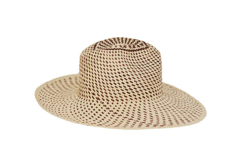 Santa Monica Straw Panama Fedora Hat | Ophelie Hats Shop Custom Made Felt Hats Montréal Canada