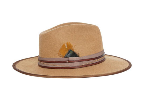 Spitfire Wide Brim Rancher Wool Felt Hat | Ophelie Hats Shop Custom Made Felt Hats Montréal Canada