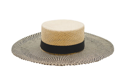 Versilia Two-Tone Cordobes Straw Panama Hat | Ophelie Hats Shop Custom Made Felt Hats Montréal Canada