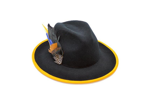 Vol Jaune Wool Felt Fedora Hat | Ophelie Hats Shop Custom Made Felt Hats Montréal Canada