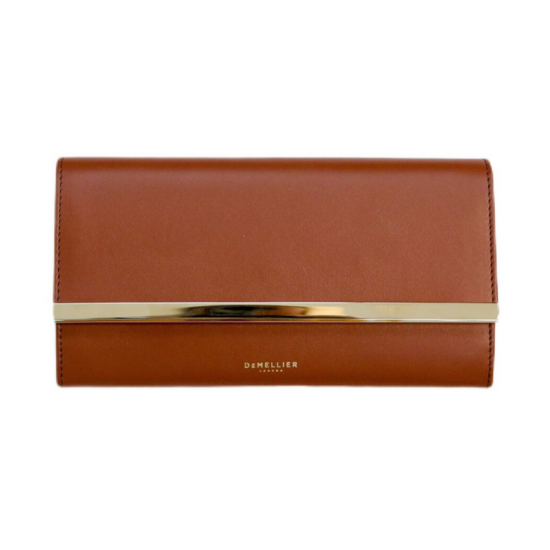 The Marais Wallet in Cognac Smooth