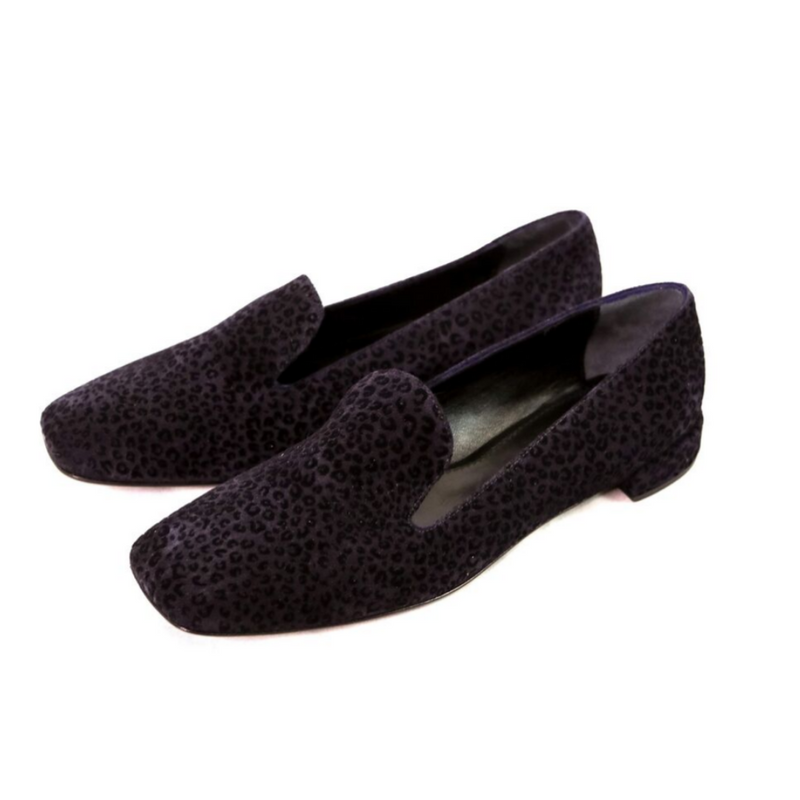 Flat Square Toe Leopard Loafer