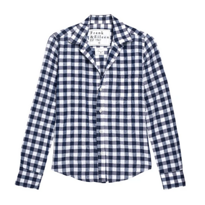 Barry Button Down Shirt (Large Navy Check)