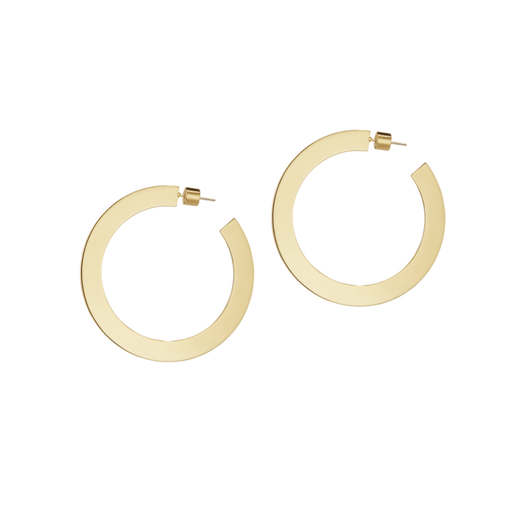 Quinn Hoops Medium Gold