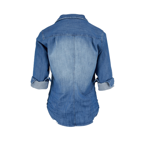 Barry Button Down Shirt  (Distressed Chambray)