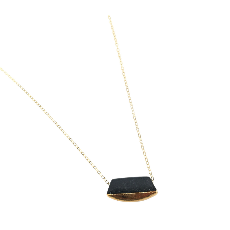 Wedge Necklace (Black)