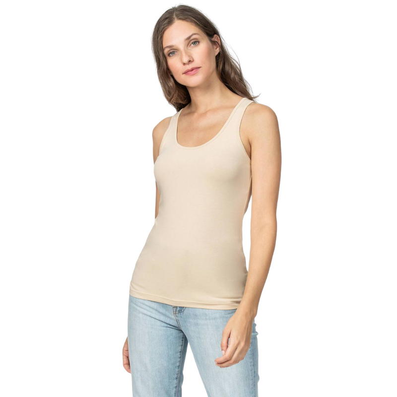 Scoop Neck Tank (Nude)