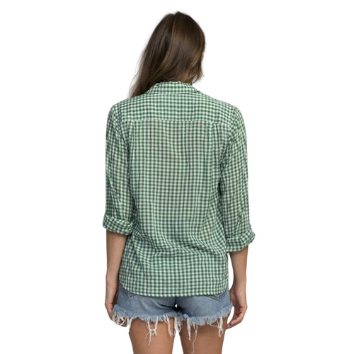 Grace Classic Shirt (Green Gingham Check)