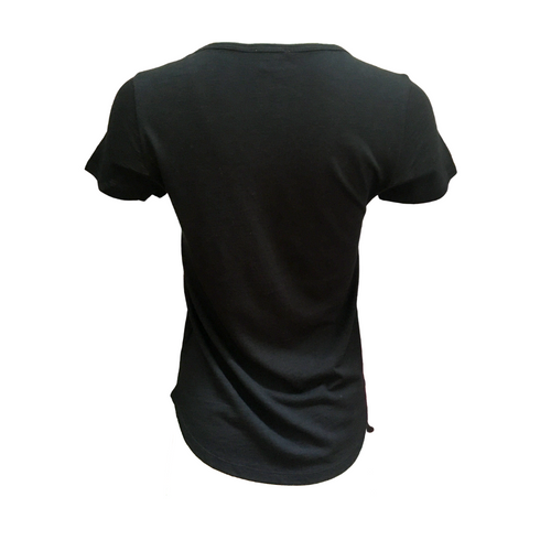 Short Sleeve V-Neck Tee (Black)