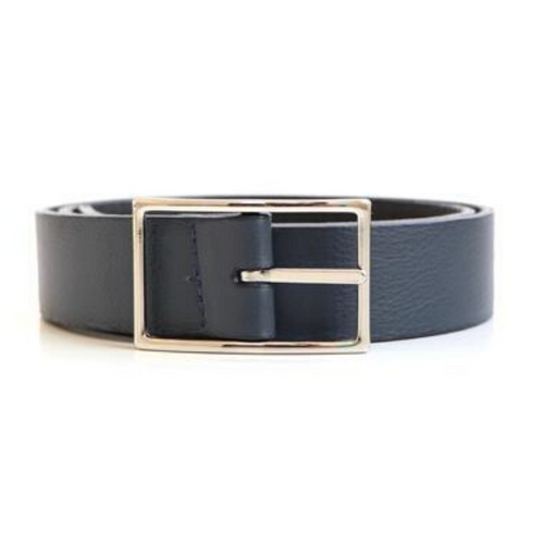 Leather Reversible Belt with Nickel Buckle