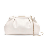 Mini Florence Soft Clutch in Off-white Smooth