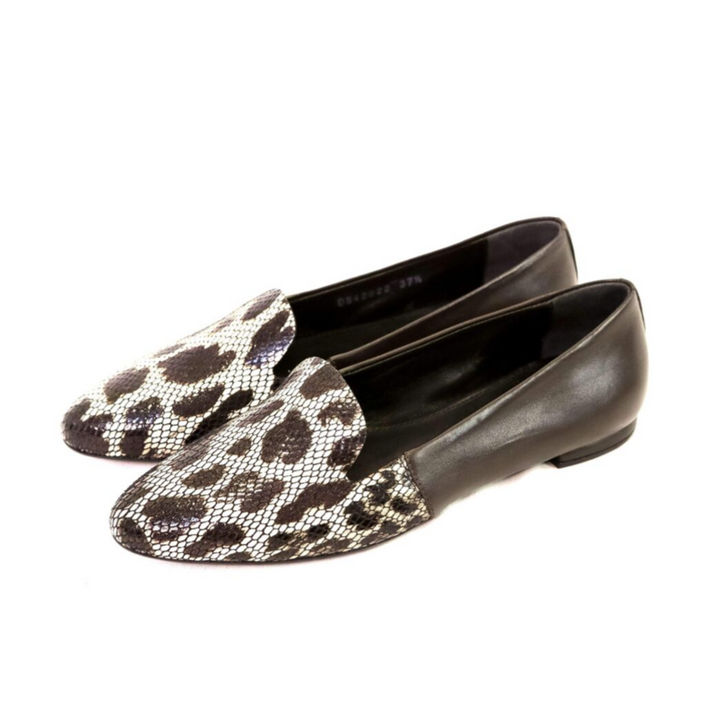 Animalier Toe Cap Two Tone Loafer