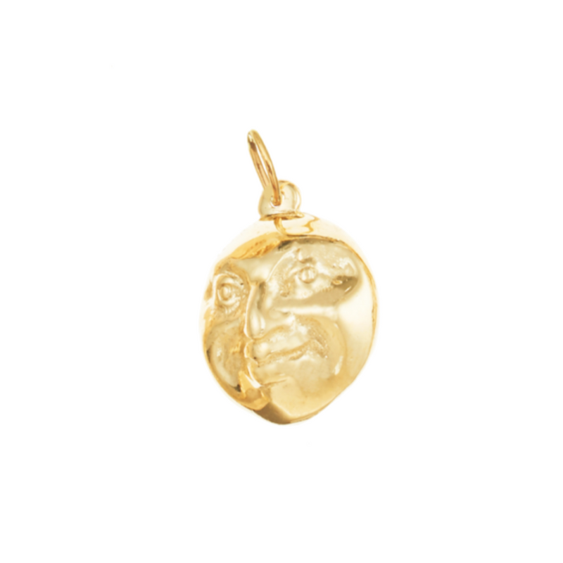 Acceptance Gold Double Faced Moon Man Charm