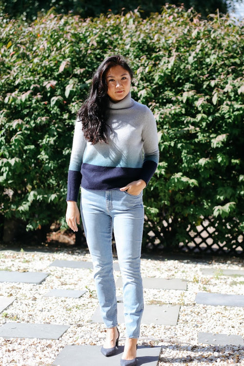 Lucia Ombre Turtleneck Sweater