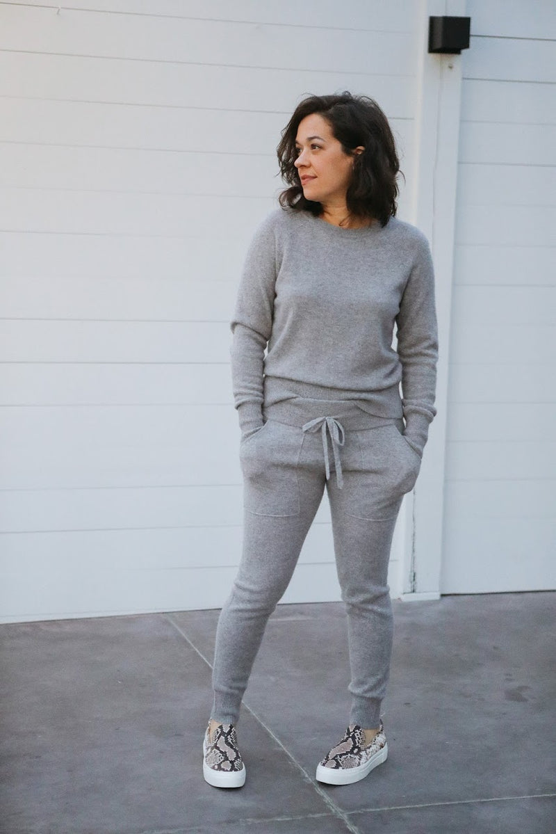 Cashmere Lounge Pant (Grey Heather)
