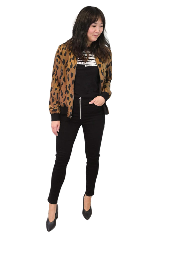 Nina High Rise Ankle Skinny No Fade Black
