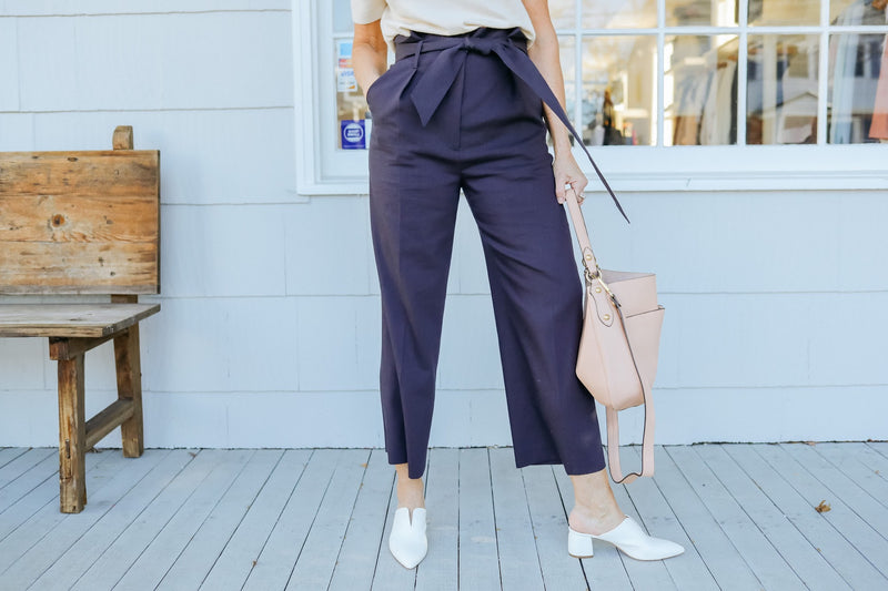Elice High Waist Pant (Navy)