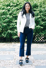 Nadia HR Cropped Denim in Navy