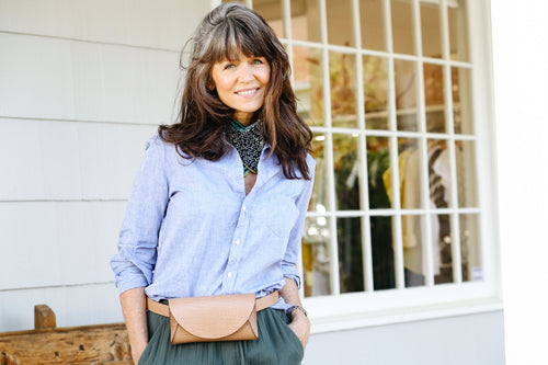 Eileen Button Down (Washed Blue)