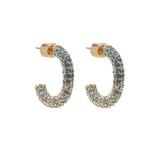 Convertible Luna Earrings (Blue Crystals)