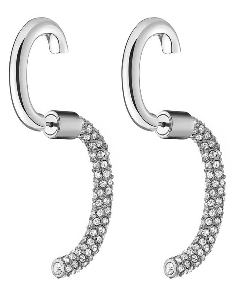 Convertible Luna Earrings (Silver/Crystal)