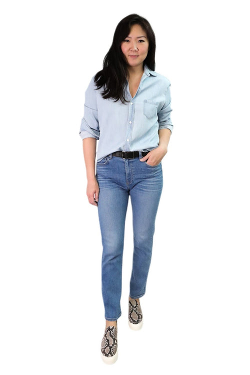 Eileen Button Down (Classic Blue Wash Chambray)