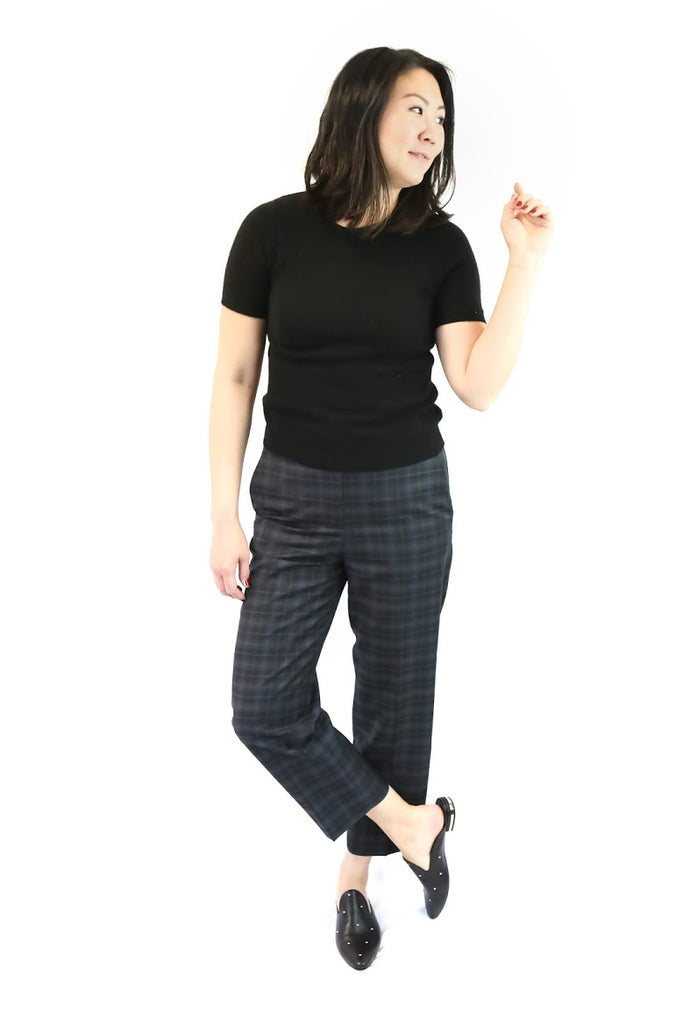 Marvel Plaid Taylor Mid Rise Pant