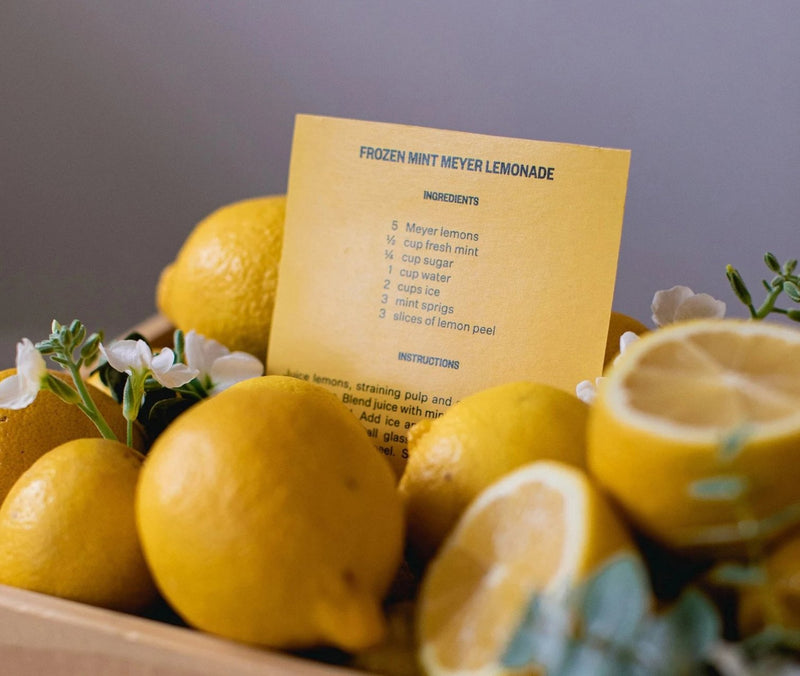 Meyer Lemon and Mint Signature Candle