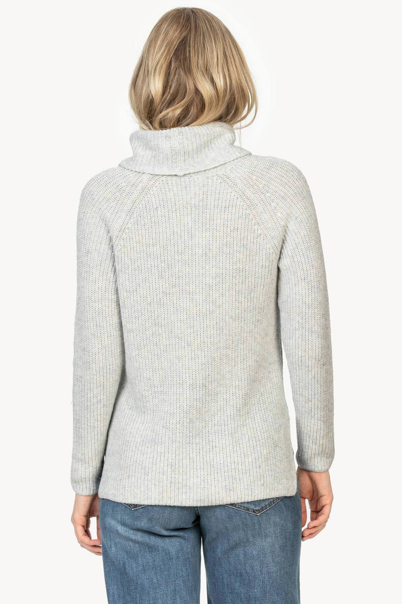 Ribbed Turtleneck Sweater Oversized
