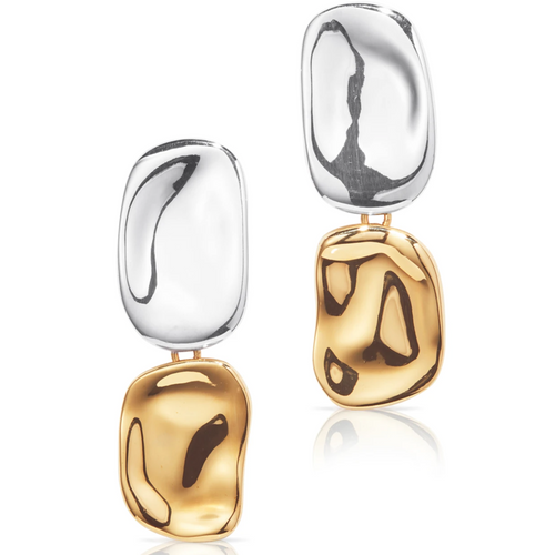 Jenny Bird Thea Earrings Two Tone